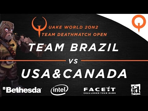 Team Brazil vs USA & Canada - Aerowalk / ZTNDM3 / DM4 (QuakeCon 2016)