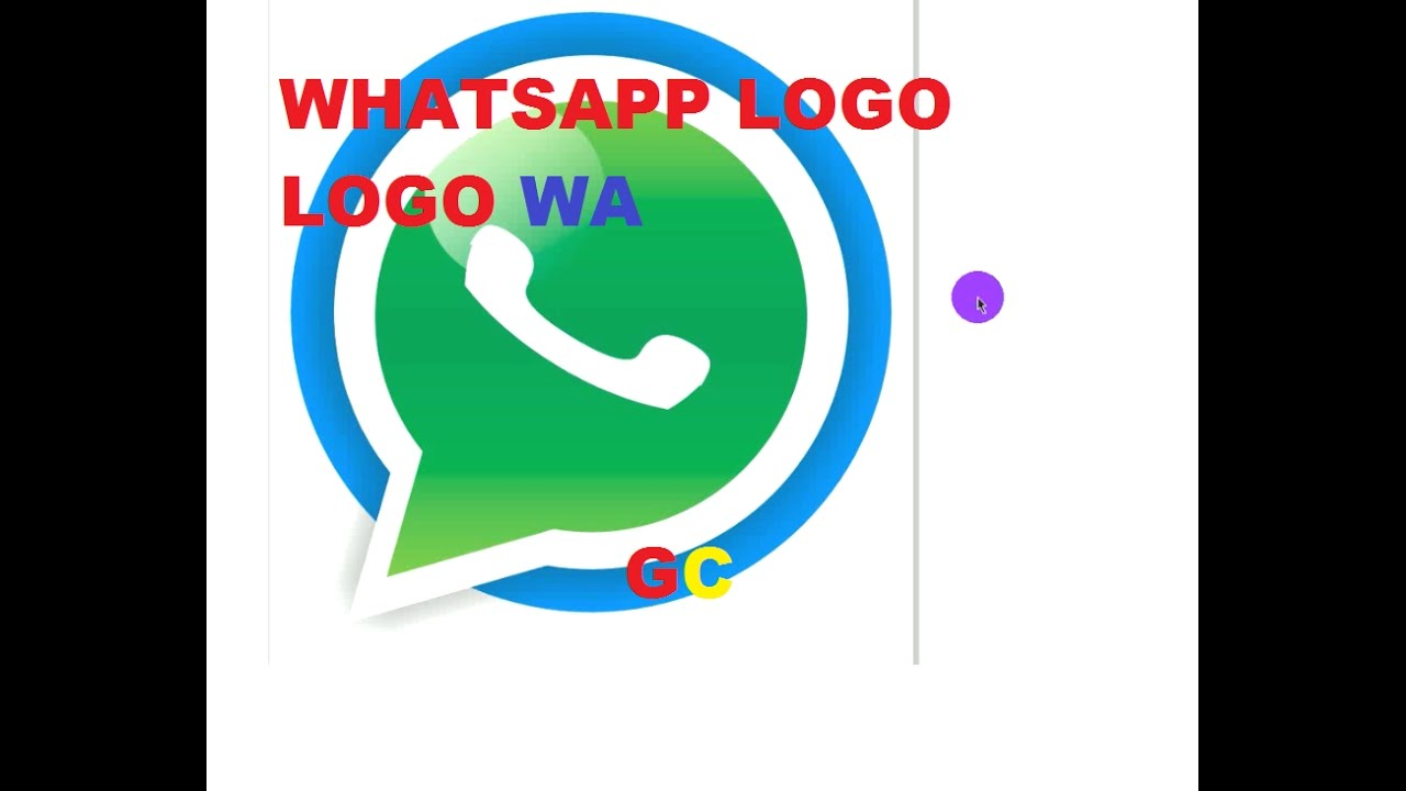 GC, Cara Membuat logo Whatsapp tutorial corel draw HD