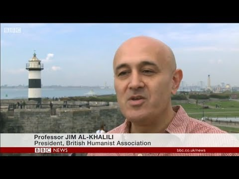 BHA President Jim Al-Khalili on BBC News, discussing whether Britain is a Christian country