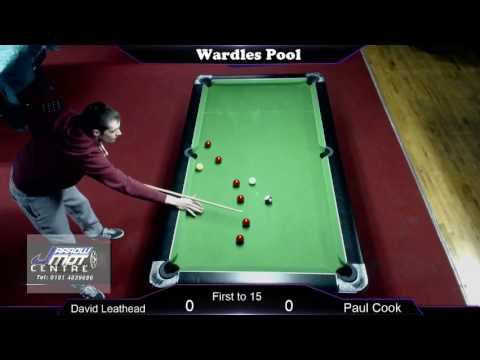 Wardles Pool; David Leathead v Paul Cook