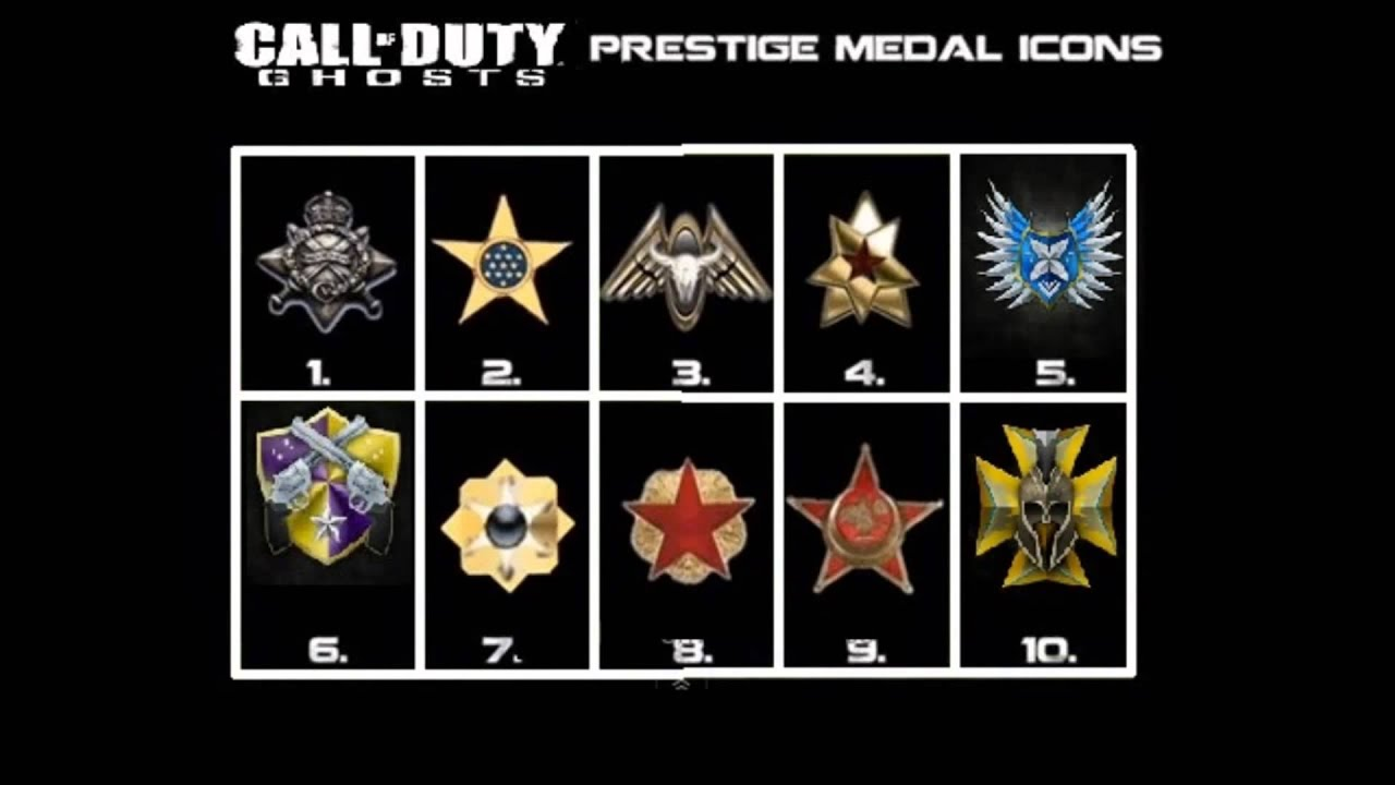 call of duty ghosts official prestige emblems 110 hd