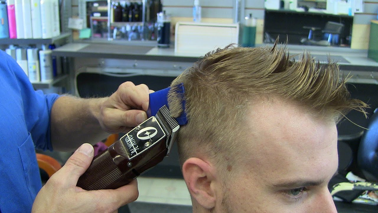 Mens Blonde Fade Haircut Mens Hairstyle Youtube