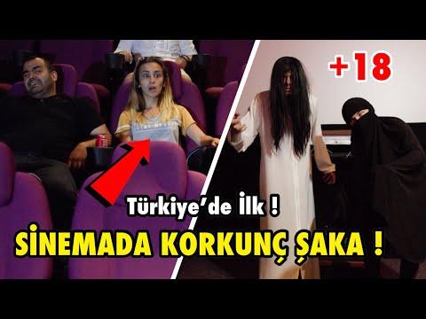 SİNEMADA KORKUTMA ŞAKASI YAPARAK İNSANLARI TROLLEDİM ! (Türkiye'de İlk)