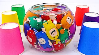 Color game with Oddbods friends! Match the colors!   PinkyPopTOY