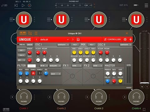 UNIQUE Analogue Synthesizer by Sugar Bytes - NOW Updated to AUv3 - iPad Demo