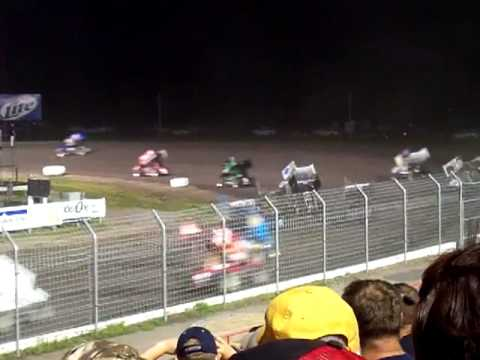 All-Star Sprints 4 wide at Red River Valley Speedway