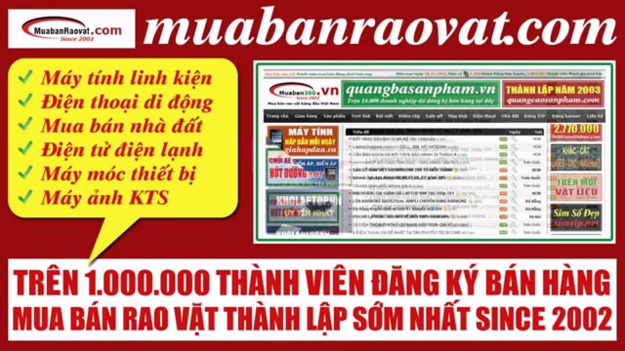 Mua bán rao vặt hàng đầu tại Việt Nam muabanraovat.com