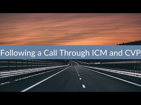 Following a Call Through ICM and CVP