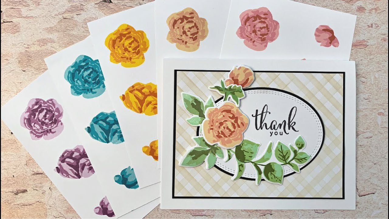Color Combinations For Layered Stamps Pop Art Flowers Cards