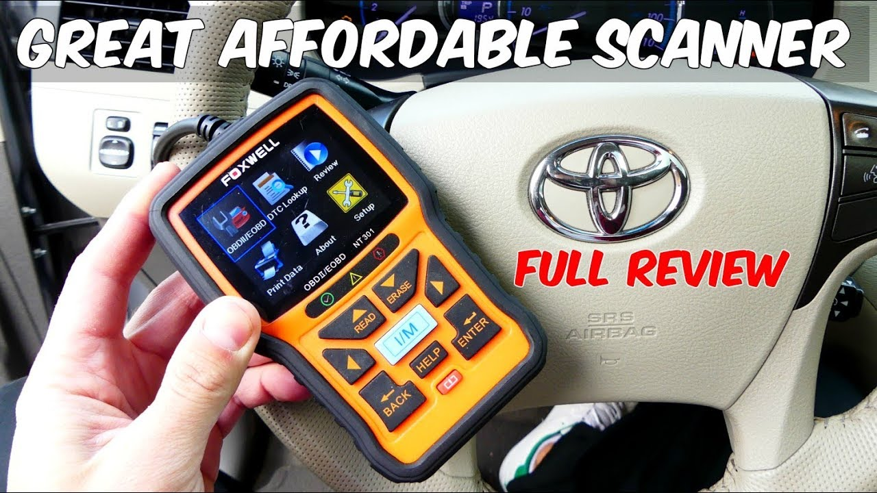 FOXWELL NT301 OBD SCANNER REVIEW READ ENGINE LIGHT RESET ENGINE LIGHT