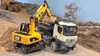 BRUDER 02445 TOYS CAT Mobilbagger ♦ Bruder CATERPILLAR RC Wheel Excavator MAGOM 6x6 Dumper