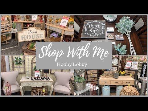 HOBBY LOBBY 2019 SHOP WITH ME + HAUL | FARMHOUSE | SPRING | NEW | HOME DECOR