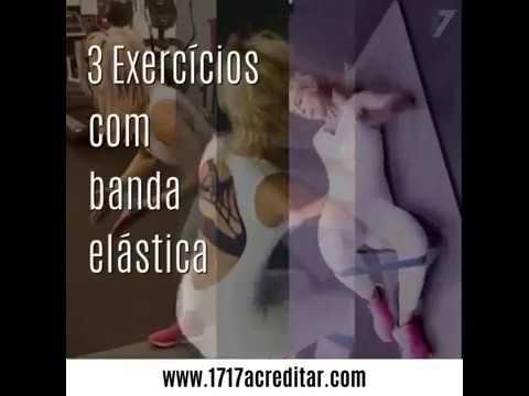 3 exercícios com banda elástica