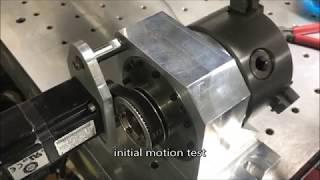 DIY CNC 4th axis build, harmonic gearhead + AC servo, pt.2