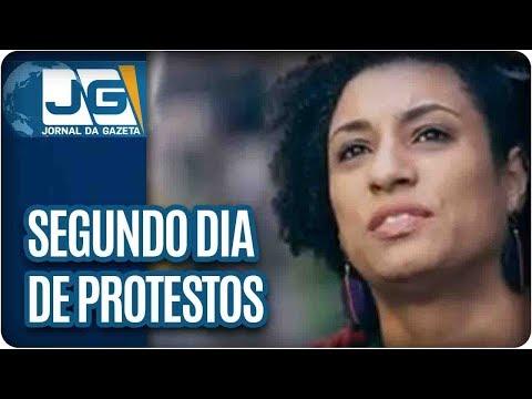 Segundo dia de protestos no RJ pela morte de vereadora