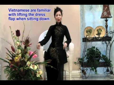 Ao Dai Den Viet Nam - Black Vietnamese Traditional Dress