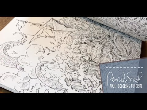 Adult Coloring Book Flip Through! Fantomorphia And Mythomorphia By Kerby  Rosanes - YouTube