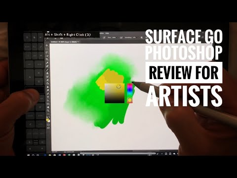 Surface Go Artists review Photoshop CC
