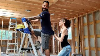 Couple Building A Tiny Home Barndominium | He Wants To Work, She Wants To Play