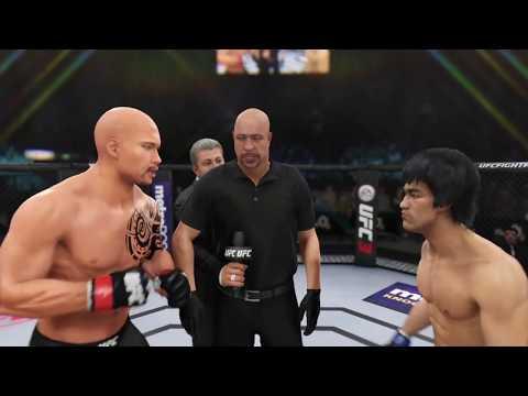 Dwayne Johnson vs. Bruce Lee EA Sports UFC 3  CPU vs. CPU