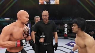Dwayne Johnson vs. Bruce Lee (EA Sports UFC 3) - CPU vs. CPU