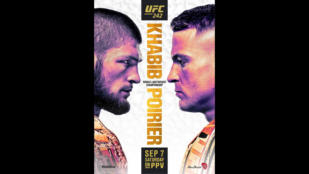 UFC 242 start time, who is fighting today at 'Khabib vs