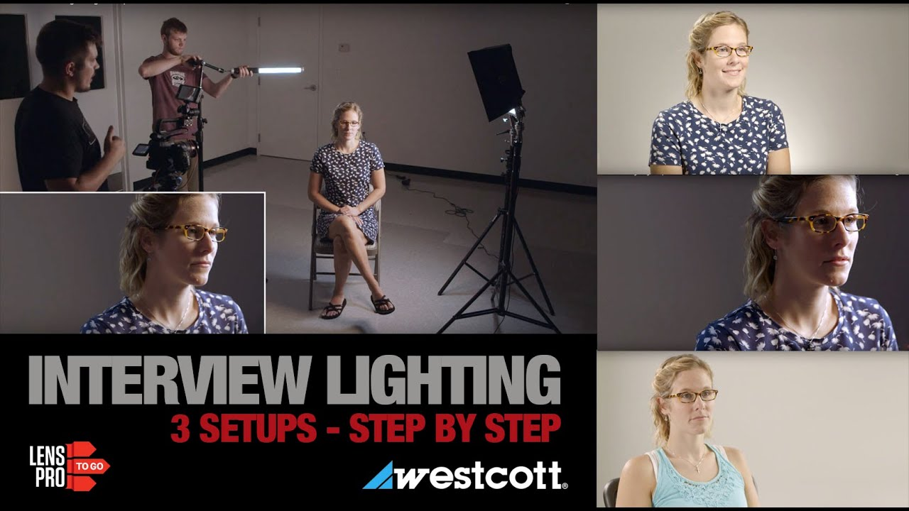 3 Interview Lighting Setups with Westcott LEDs - YouTube