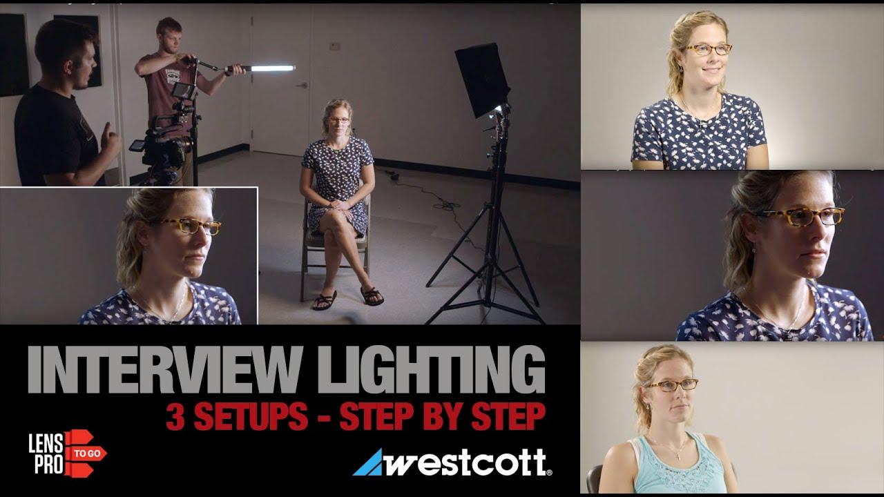 3 Interview Lighting Setups with Westcott LEDs - YouTube