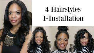 4 Hairstyles in 5 MINUTES using SL Raw Virgin Hair  | Hair Makeover #10 | Feat. Young Head Beats