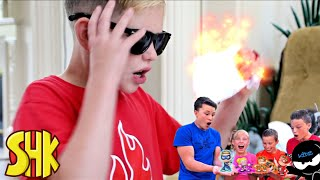 The Brief Case Mixup NINJA KIDZ TV TOY CHALLENGE | SuperHeroKids Funny Family Videos Compilation
