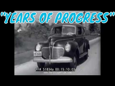 "1941 CHRYSLER PLYMOUTH AUTOMOBILE COMPANY CAR DESIGN PROMOTIONAL FILM  ""YEARS OF PROGRESS"" 51834a"