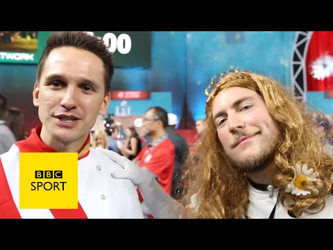 The craziness of Super Bowl's opening night - BBC Three on BBC Sport