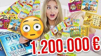 Ich kaufe über 100 RUBBELLOSE 😱 1,2 MILLIONEN GEWINN?! | XLAETA