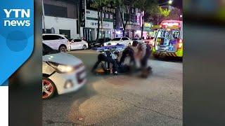 목포에서 승용차·오토바이 충돌...남성 1명 크게 다쳐…