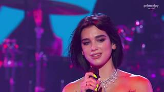 Amazon Prime Day Concert 2019 Dua Lipa Singing Live Performs Amazing Voice