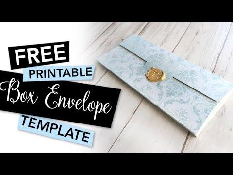 picture regarding Free Envelope Printable identified as Totally free Printable Box Envelope Template FREEBIE