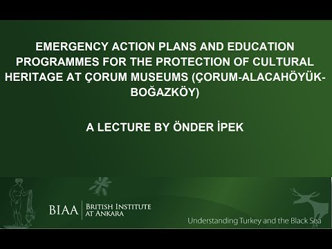Önder İpek: Emergency Action Plans and Education Programmes