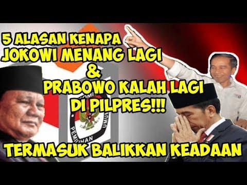 Inilah 5 Alasan Kenapa Jokowi Menang Lagi dan Prabowo Kalah Lagi di Pilpres   Wonderdir Pilpres