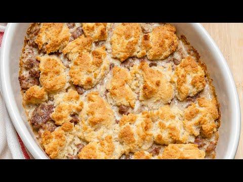 Keto Recipe - Sausage Gravy and Biscuit Bake