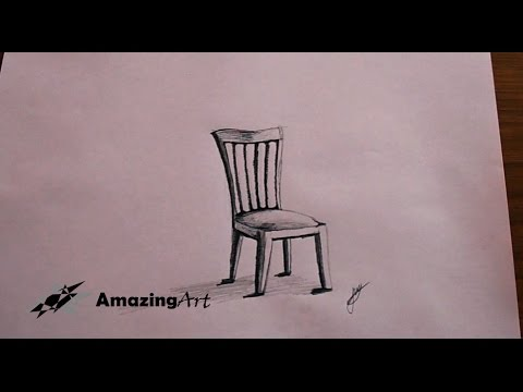 Como dibujar una silla how to draw a 3d chair youtube for Silla facil de dibujar