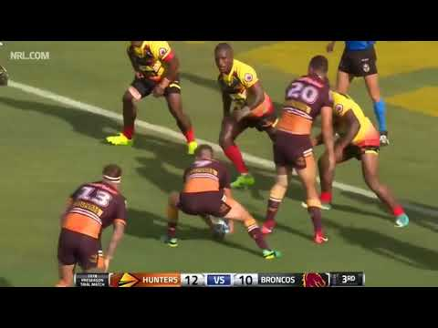 Brisbane Broncos VS PNG Hunters   Match Highlights   2018 Trial