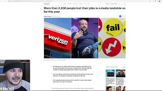 FIFTEEN THOUSAND Media Layoffs Last Year?!! The End Is Near