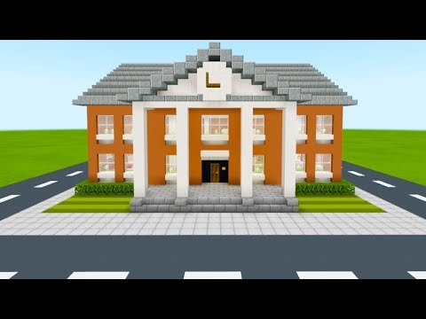 Minecraft Tutorial: How To Make A Town Hall Part 1
