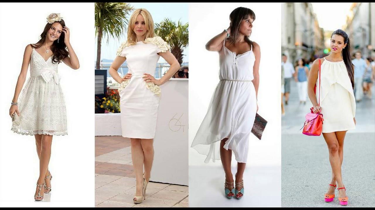 Combinar Un Vestido Blanco Tendencias 2018