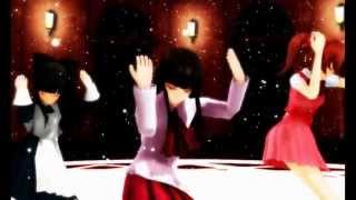 【MMD】「Ib,Aki,Aya」絵?あぁ、そう。/ Eh? Ah, sou.【96猫ver.】/【96Neko ver.】