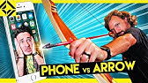 iPhone Archery Challenge DON'T HIT THE PHONE