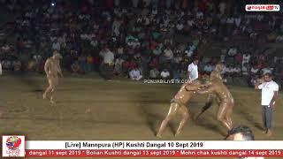 [Live] Mannpura (HP) Kushti Dangal 10 Sept 2019 by punjabilivetv.com