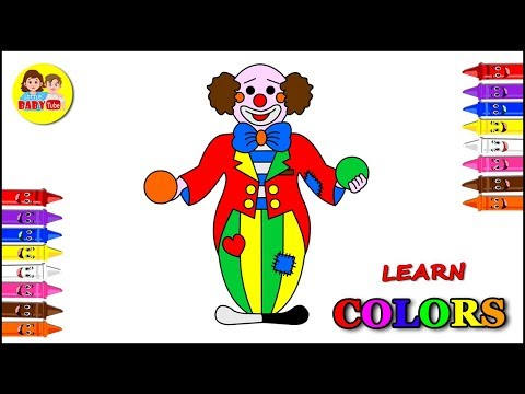 Coloring Page for Kids | Joker Coloring for Children | Color Learning Video
