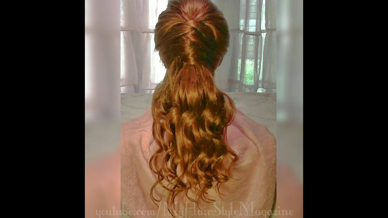 Easy Half Up Half Down Criss Cross Prom Hairstyle Tutorial Youtube