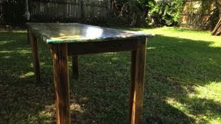 How To Build A Rustic / Distressed Table. Video 2